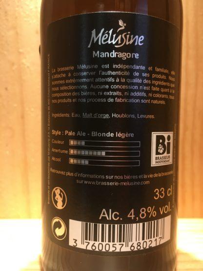 melusine mandragore pale ale etiquette